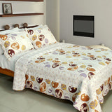Romantic Beach Cotton 3PC Vermicelli-Quilted Printed Quilt Set (Full/Queen Size) | My Bed Covers
