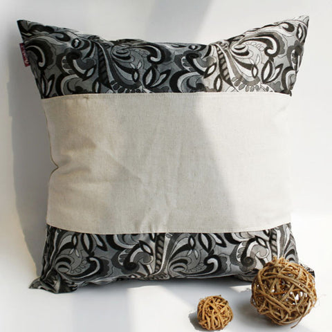 Romantic Date Linen Patch Work Pillow Cushion - My Bed Covers - 1