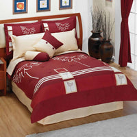 Rosso Bruno Comforter Set (King Size) | My Bed Covers