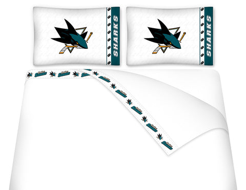 San Jose Sharks Sheet Set - My Bed Covers - 1