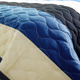Sea Waves 3PC Vermicelli-Quilted Patchwork Quilt Set (Twin Size) - My Bed Covers - 3