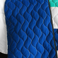 Sea's Passion Vermicelli-Quilted Patchwork Geometric Quilt Set (Full/Queen Size) - My Bed Covers - 3