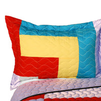 Second Space 3PC Vermicelli - Quilted Patchwork Quilt Set (Full/Queen Size) - My Bed Covers - 2