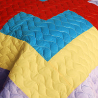 Second Space 3PC Vermicelli - Quilted Patchwork Quilt Set (Full/Queen Size) - My Bed Covers - 4