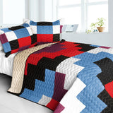 Shinning 3PC Vermicelli - Quilted Patchwork Quilt Set (Full/Queen Size) | My Bed Covers