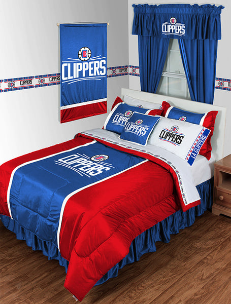 Los Angeles Clippers NBA Sideline Comforter | My Bed Covers