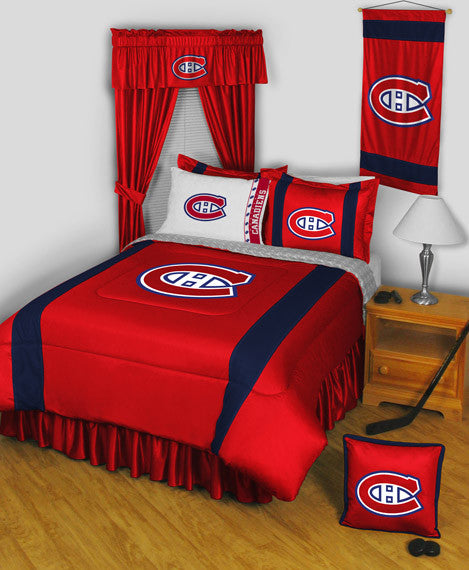 Montreal Canadiens NHL Sideline Comforter | My Bed Covers
