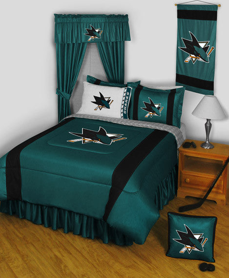 San Jose Sharks NHL Sideline Comforter | My Bed Covers