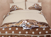 Sleepy Tiger 4PC Duvet Cover Set (Twin Size) | My Bed Covers