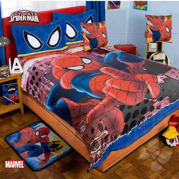 Spider Man Comforter Set With Sherpa | My Bed Covers