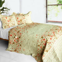 Splendid Beauty 3PC Cotton Vermicelli-Quilted Printed Quilt Set (Full/Queen Size) | My Bed Covers