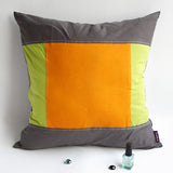 Sport Zone Knitted Fabric Patch Work Pillow Cushion | My Bed Covers