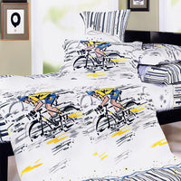 Sporting Style 100% Cotton 4PC Duvet Cover Set (King Size) | My Bed Covers
