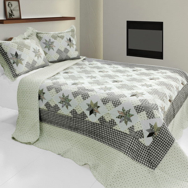Starry Sky 3PC Cotton Vermicelli-Quilted Printed Quilt Set (Full/Queen Size) - My Bed Covers - 1