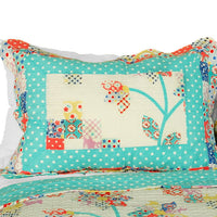 Start My Youth Cotton 3PC Vermicelli-Quilted Printed Quilt Set (Full/Queen Size) | My Bed Covers