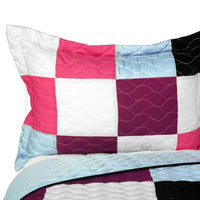 Sweet Berry Smack 3PC Vermicelli - Quilted Patchwork Quilt Set (Full/Queen Size) - My Bed Covers - 2