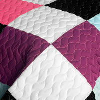 Sweet Berry Smack 3PC Vermicelli - Quilted Patchwork Quilt Set (Full/Queen Size) - My Bed Covers - 4