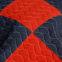 That Galantis Vermicelli-Quilted Patchwork Geometric Quilt Set (Full/Queen Size) - My Bed Covers - 4