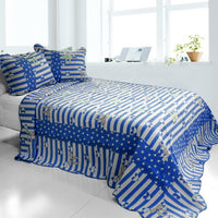 The Gift 3PC Cotton Vermicelli-Quilted Printed Quilt Set (Full/Queen Size) - My Bed Covers - 1