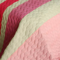 The Only Truth 3PC Vermicelli-Quilted Patchwork Quilt Set (Full/Queen Size) | My Bed Covers
