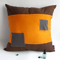 Trend Knitted Fabric Patch Work Pillow Cushion | My Bed Covers