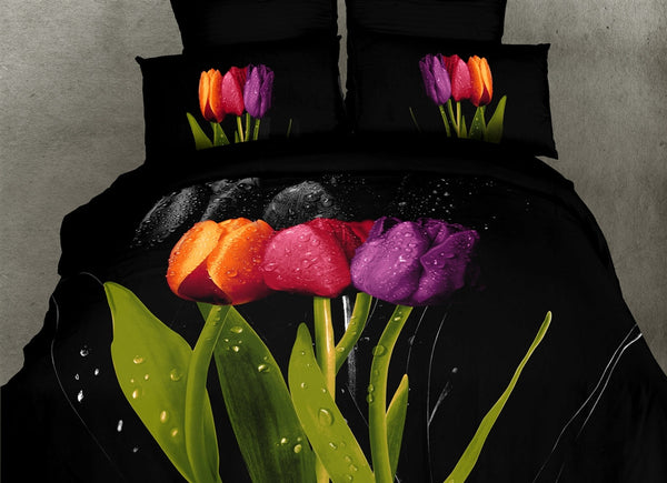 Tulipani 6PC Duvet Cover Set (King Size) | My Bed Covers