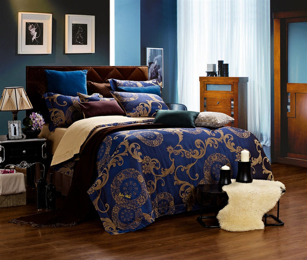 Venus Jacquard Damask 6PC Duvet Cover Set (Full/Queen Size) | My Bed Covers