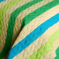 Wild Territory Shanti 3PC Vermicelli-Quilted Patchwork Quilt Set (Full/Queen Size) | My Bed Covers