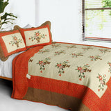 Winter Sonata 3PC Cotton Vermicelli-Quilted Printed Quilt Set (Full/Queen Size) | My Bed Covers