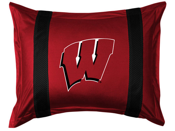 Wisconsin Badgers Pillow Sham - My Bed Covers