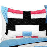 Wonderful Date Day 3PC Vermicelli - Quilted Patchwork Quilt Set (Full/Queen Size) - My Bed Covers - 2