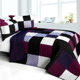 Wonderful Live 3PC Vermicelli - Quilted Patchwork Quilt Set (Full/Queen Size) - My Bed Covers - 1