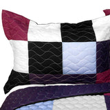 Wonderful Live 3PC Vermicelli - Quilted Patchwork Quilt Set (Full/Queen Size) - My Bed Covers - 2