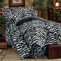 Zebra Black Complete Bedding Set (Queen Size) | My Bed Covers