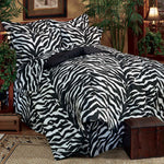 Zebra Black Complete Bedding Set (Full Size) | My Bed Covers
