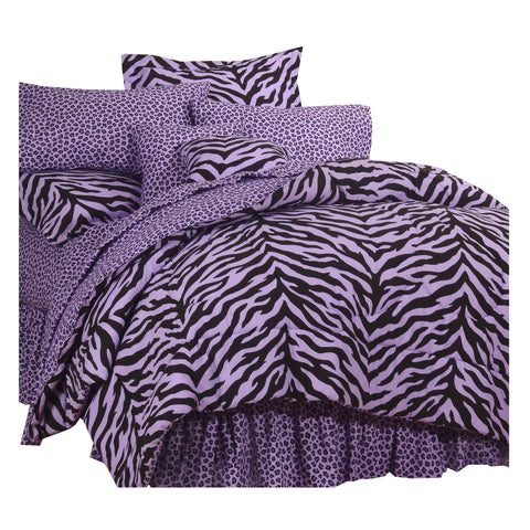 Zebra Lavender Complete Bedding Set (Queen Size) - My Bed Covers