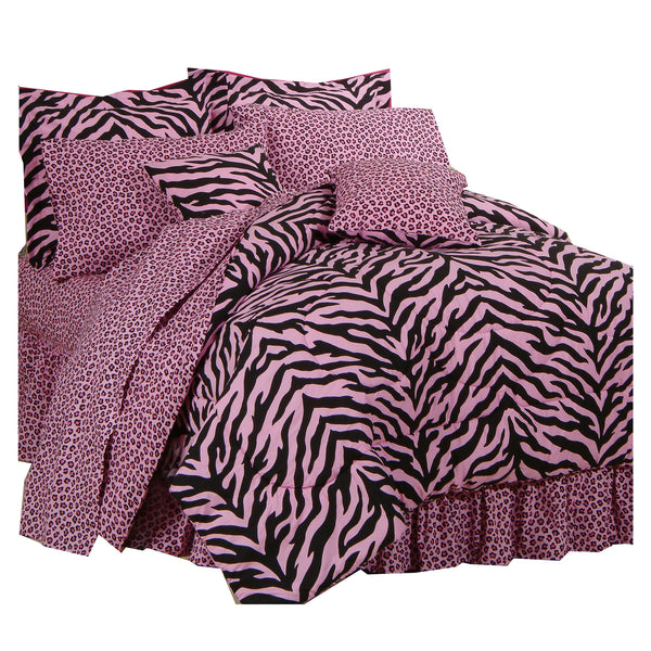 Zebra Pink Complete Bedding Set (Twin Size) | My Bed Covers