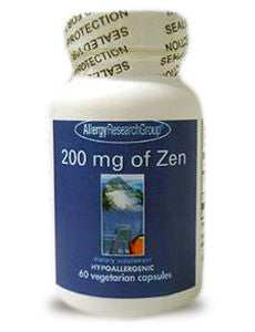 Allergy Research Group 200 MG Of Zen (120 CAPSULES) (NEW SIZE)