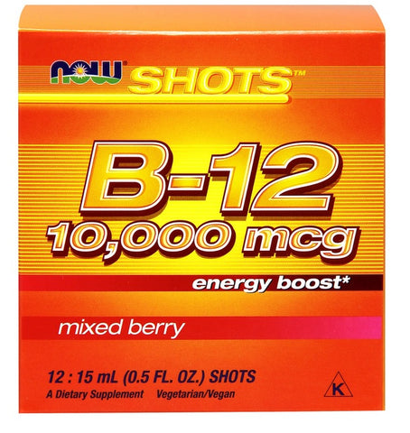 Now Foods, B-12, Energy Shots, 10,000mcg, 12-15 ml Vials