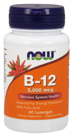 Now Foods, B-12 5000 mcg, 60 Lozenges