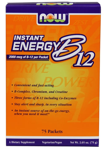Now Foods, B-12, Instant Energy Packets, 2000mcg, 75 Count