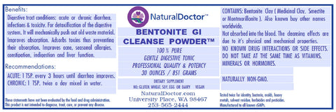 BENTONITE GI CLEANSE POWDER, 30 OUNCES / 851 GRAMS