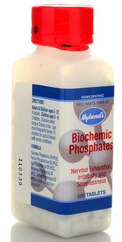Hyland's Homeopathic Cell Salt Biochemic Phosphates, 500 Tabs