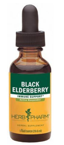 HERB PHARM ORGANIC BLACK ELDERBERRY, ALCOHOL FREE GLYCERITE, 1 OUNCE