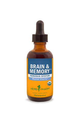 HERB PHARM ORGANIC BRAIN & MEMORY, 4 OUNCES