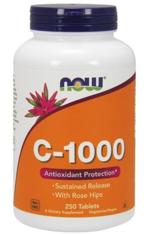 NOW FOODS, VITAMIN C-1000 TIME RELEASED, 250 TABLETS