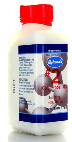 Hyland's Homeopathic Cell Salt # 2 Calc Phos 6x, 1000 Tabs
