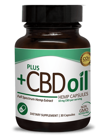 CV Sciences +CBD Oil, Capsules (10mg CBD), 30 Count.