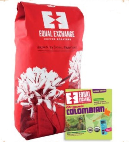 EQUAL EXCHANGE ORGANIC COFFEE, COLOMBIAN, BEANS, 5 LBS