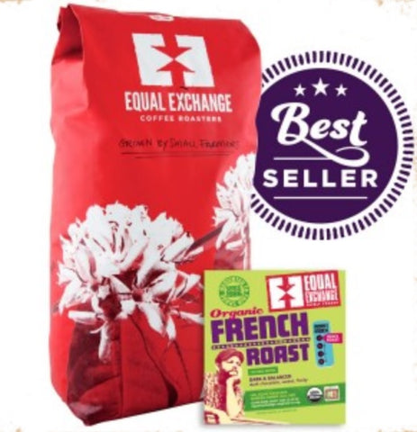 Equal Exchange Organic Coffee, French Roast, Beans, 5 Lbs